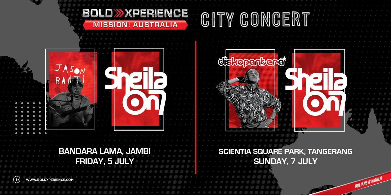 12 Musisi Papan Atas siap Perform di Bold Xperience Mission City Concert di 10 Kota