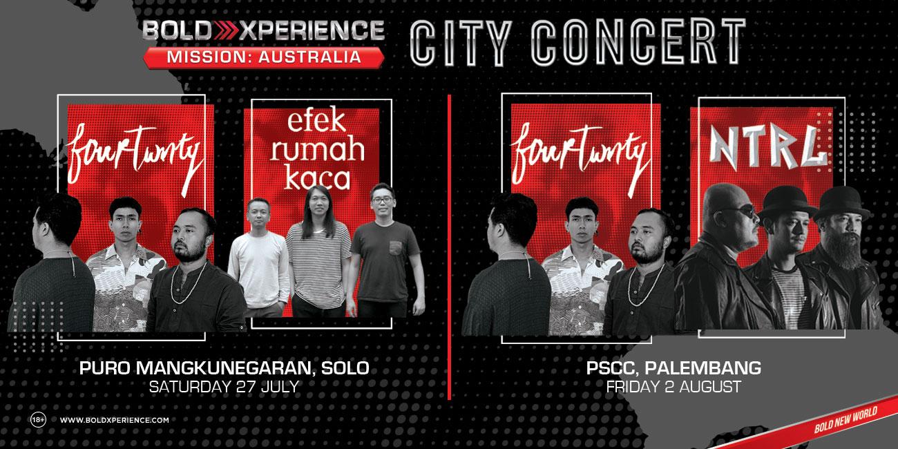 Roadshow City Concert Berlanjut Menuju Solo dan Palembang