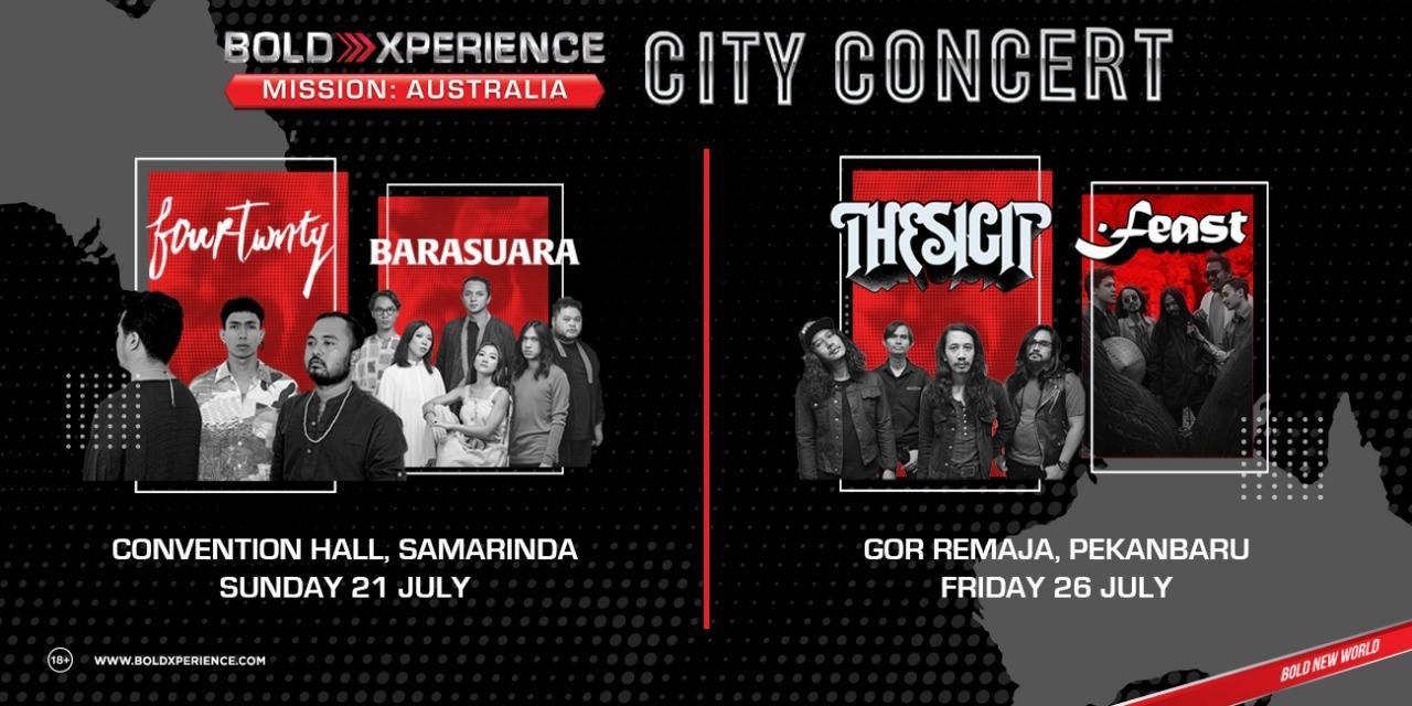 Bersiaplah, City Concert Segera Menghentak Samarinda dan Pekanbaru